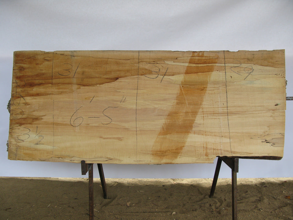 "Spalted Maple A Slab 3.5"" x 30"" x 6.42' SPM-260"