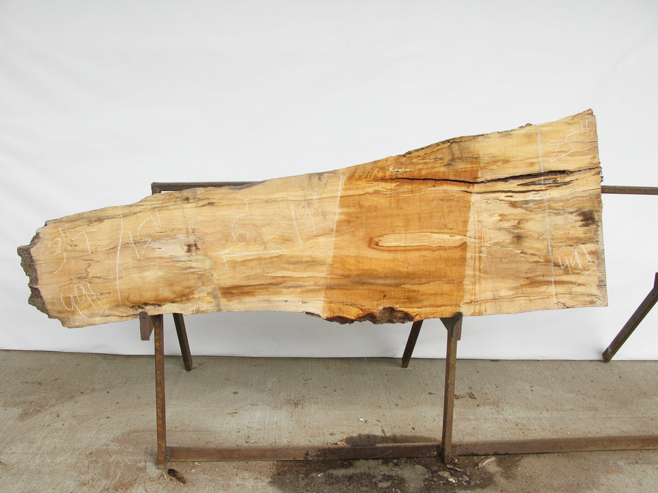 "Spalted Maple A Slab 3"" x 20"" x 6' SPM-491"