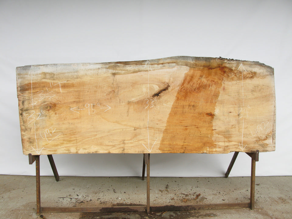 "Spalted Maple A Slab 3.5"" x 33"" x 8' SPM-492"