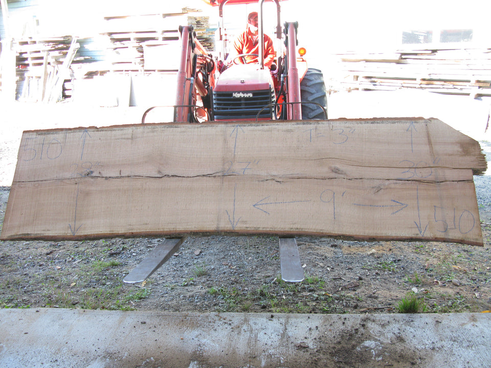 "Red Oak B Slab 3"" x 28"" x 9' RO-510"