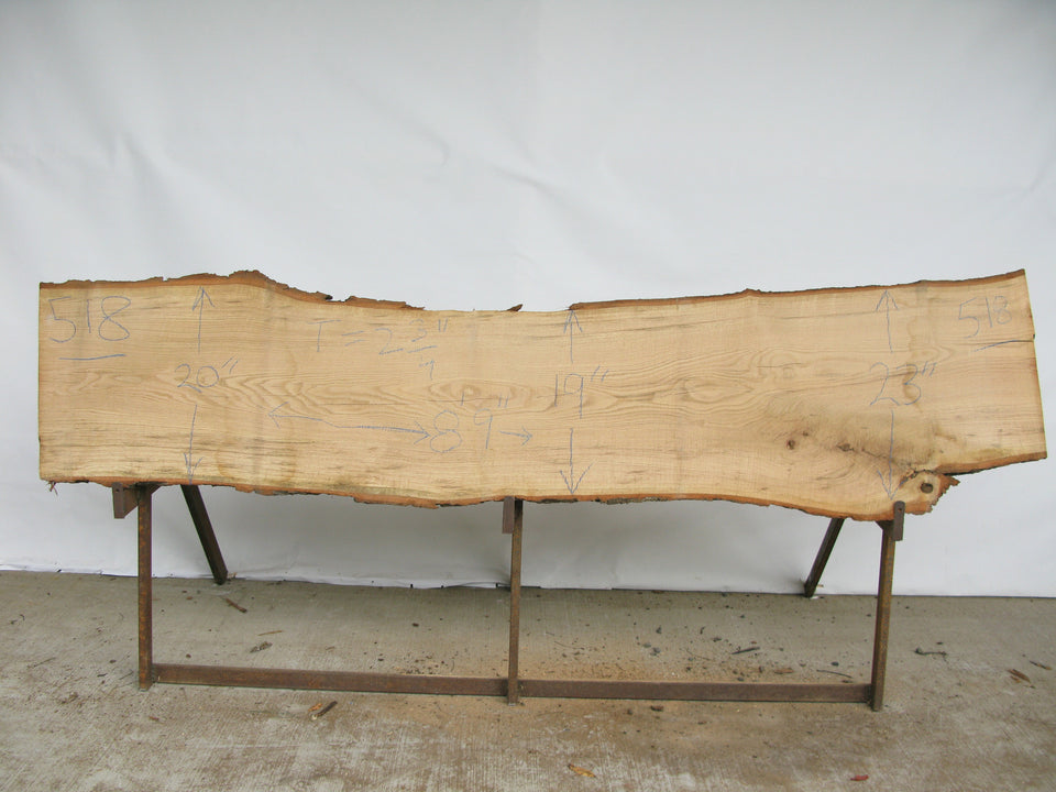 "Red Oak A Slab 2.75"" x 21"" x 8.75' RO-518"