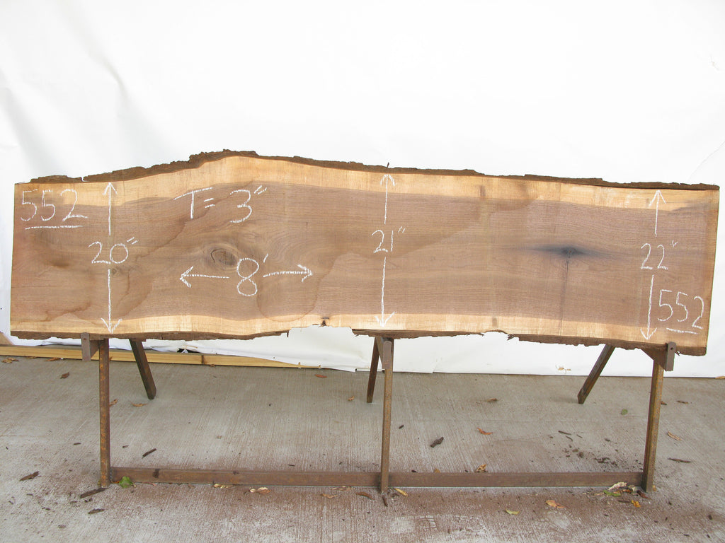 "Walnut A Slab 3"" x 21"" x 8' WAL-552"