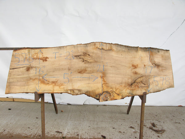 "Maple B Slab 2.25"" x 18"" x 5' MAP-578"