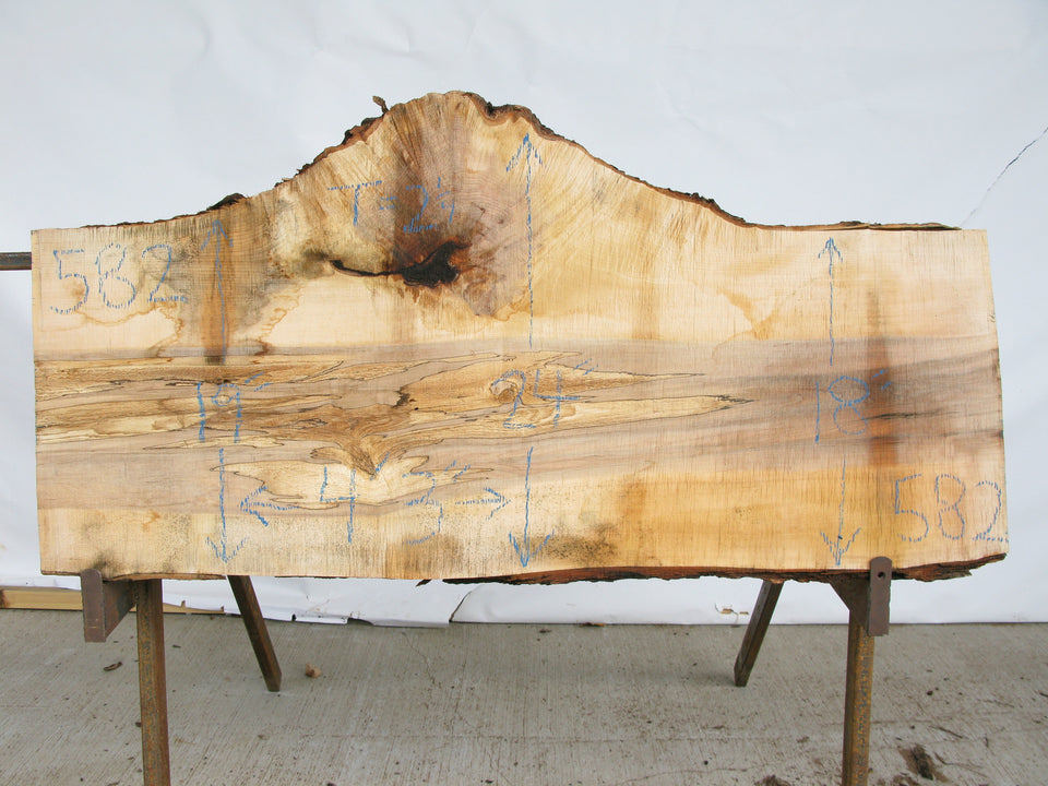 "Maple B Slab 2.25"" x 20"" x 4.25' MAP-582"