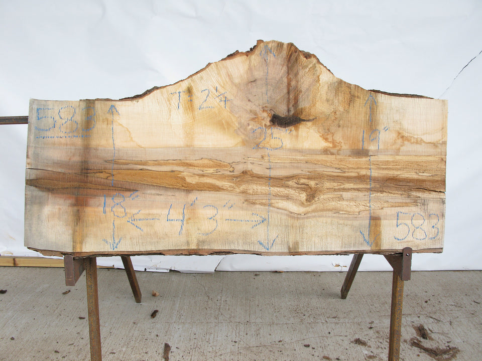 "Maple B Slab 2.25"" x 21"" x 4.25' MAP-583"