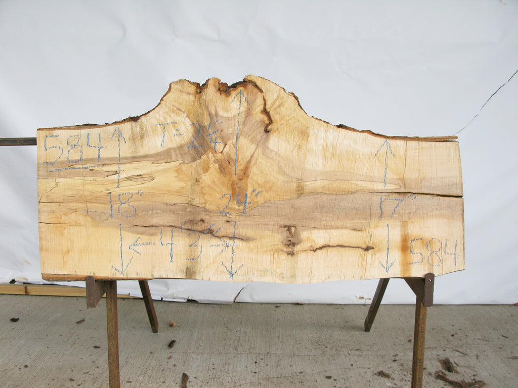 "Maple B Slab 2.25"" x 20"" x 4.25' MAP-584"
