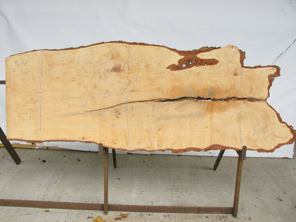 "Maple B Slab 1.5"" x 26"" x 6.25' MAP-594"