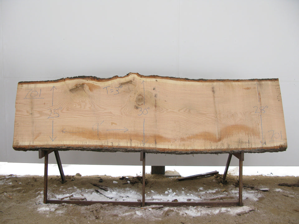 "Red Oak A Slab 3""X 28""X 9' OAK-701"