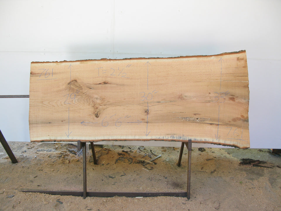 "Red Oak A Slab 2.5"" x 30"" x 6'6"" SKU761"