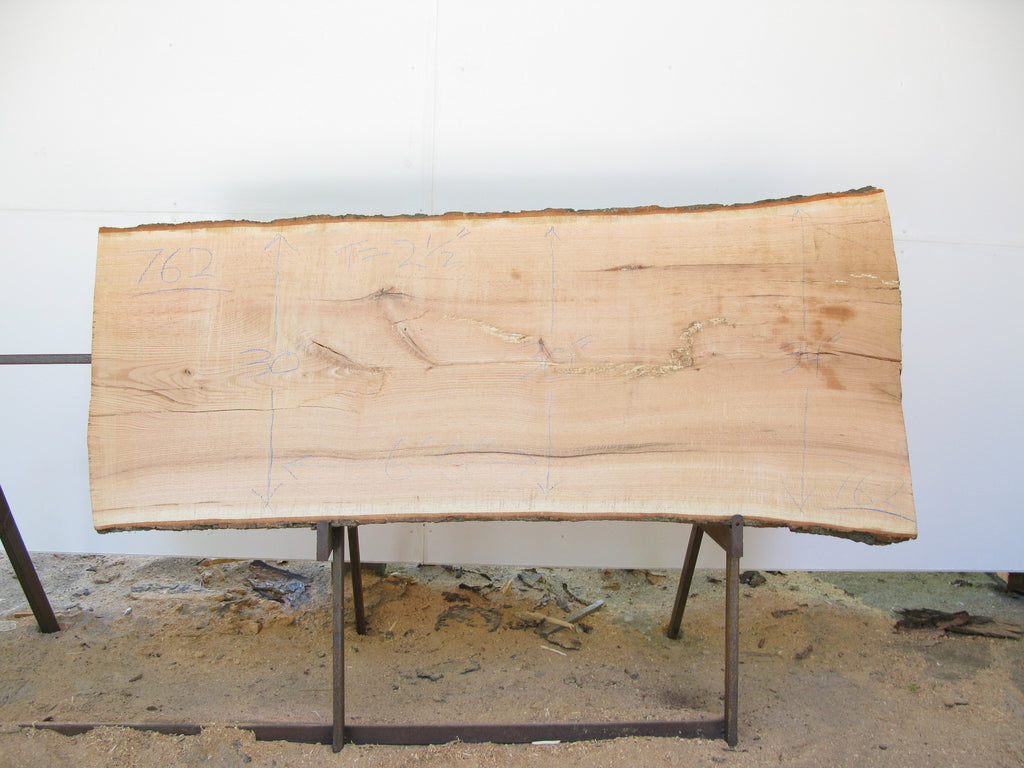"Red Oak A Slab 2.5"" x 31"" x 6'6"" SKU762"