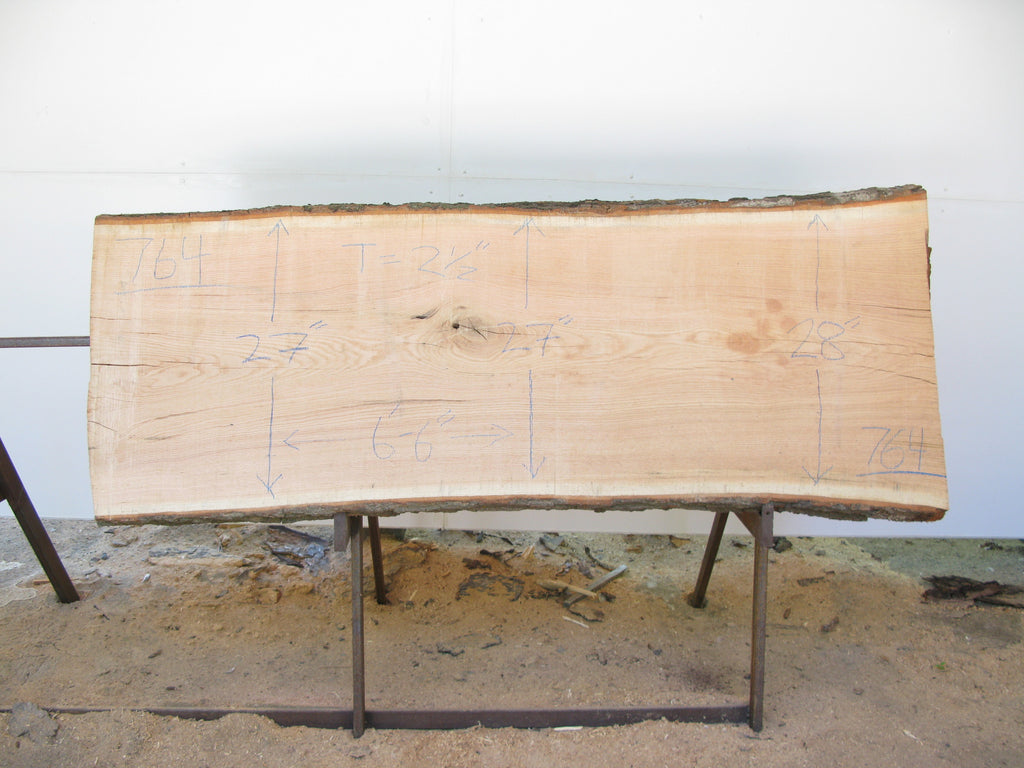 "Red Oak A Slab 2.5"" x 27"" x 6'6"" SKU764"