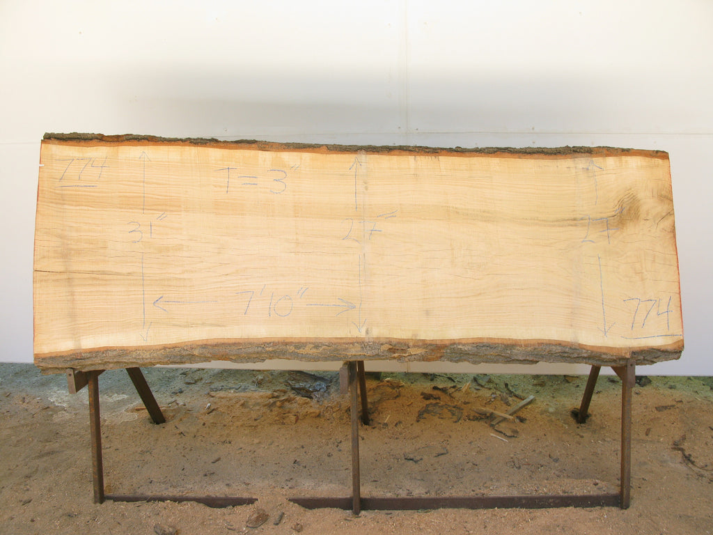 "Red Oak A Slab 3"" x 28"" x 7'10"" SKU774"