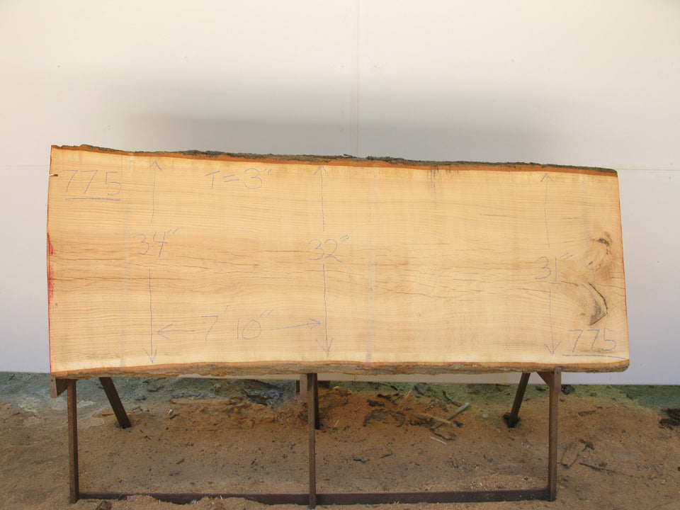 "Red Oak A Slab 3"" x 32"" x 7'10"" SKU775"