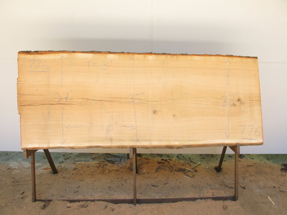 "Red Oak A Slab 3"" x 35"" x 7'10"" SKU776"