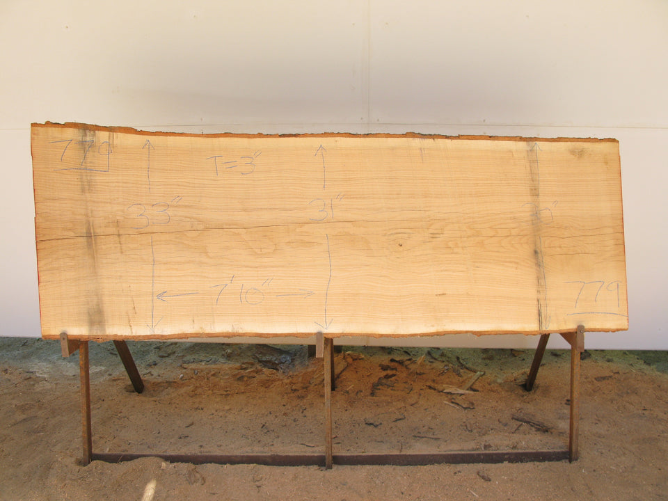 "Red Oak A Slab 3"" x 31"" x 7'10"" SKU779"