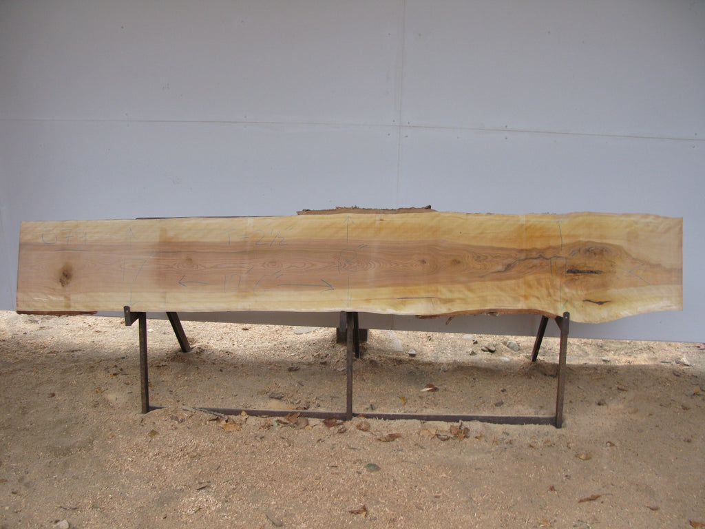 "Quilted Yellow Birch Slab - 2.5"" x 18"" x 10.5' - YB-079"