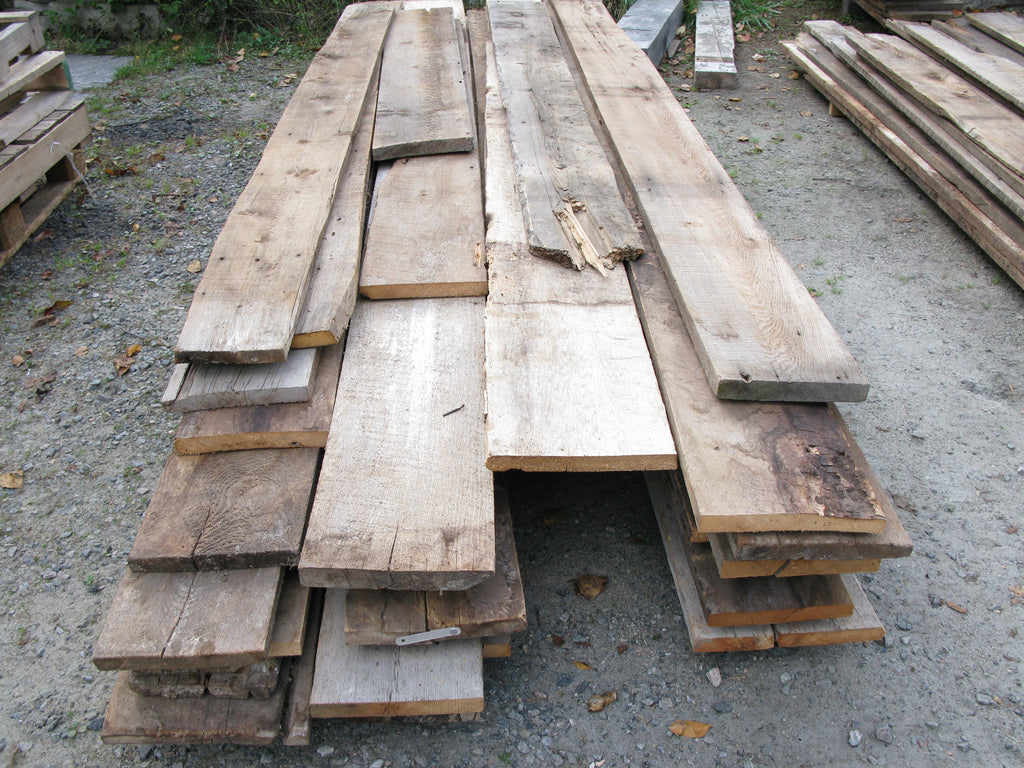 "Reclaimed Brown Board 4/4, 8-12"" widths x 10-12' lengths. 320 board feet. SKU1100"