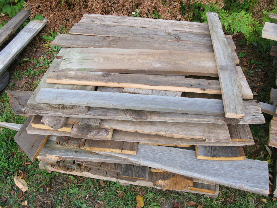 "Barn Board Value Pile. 1"" x 6""-12"". Up to 4'. SKU 1087"