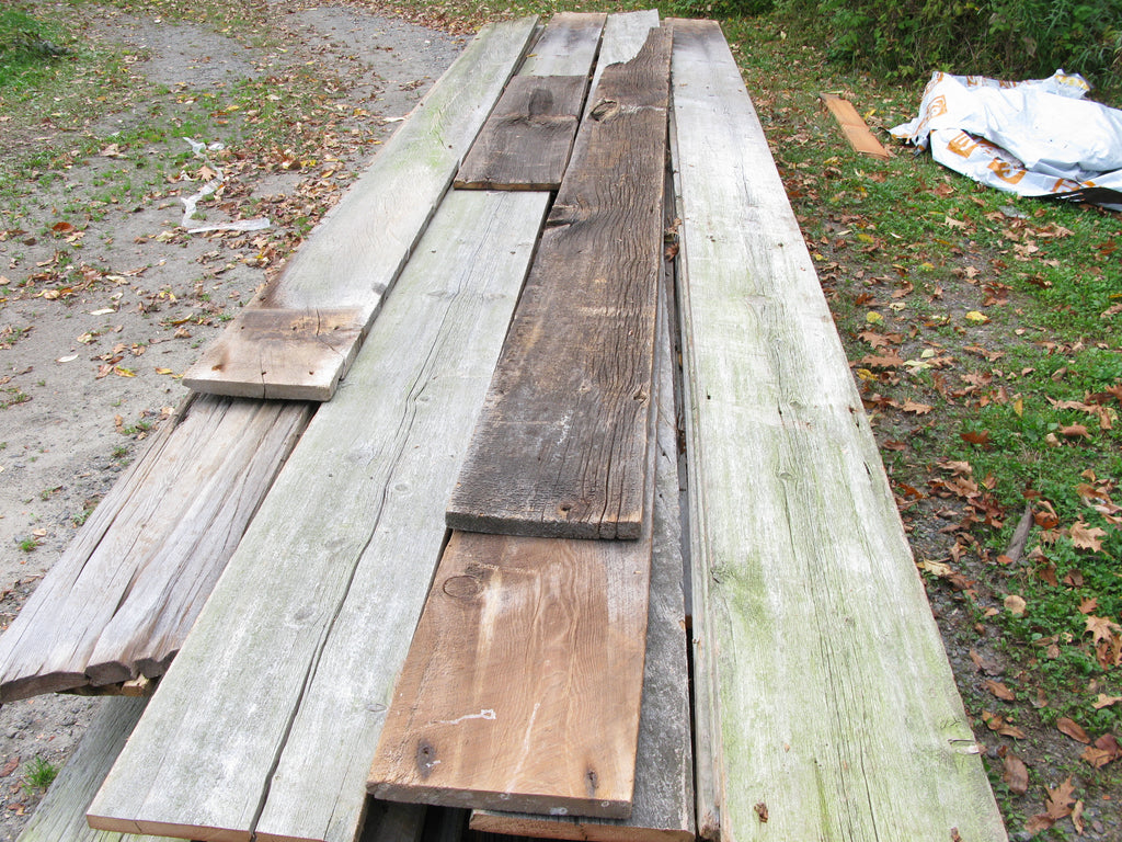 "Super Premium Grey Barn Board. 1"" x 8""- 10"". Up to 15'.  SKU 1095"