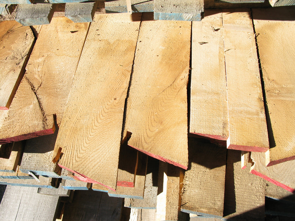 "Red Oak - 4/4, 3-7"", 9' - 285bf - SKU1104"