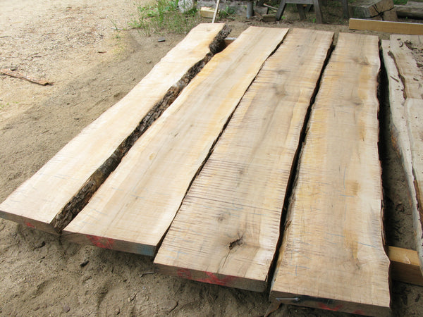 Soft Maple: 4 Slab Table Set. 85 b/f. Sku 477