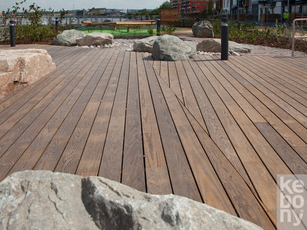 Kebony Decking, Cladding 22mm x 142mm x 10' KEB-011