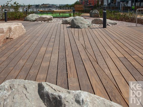 Kebony Decking, Cladding 22mm x 142mm x 12' KEB-008