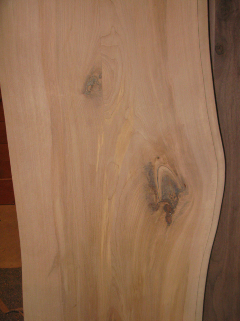 Incomplete Maple live edge 'River' table top