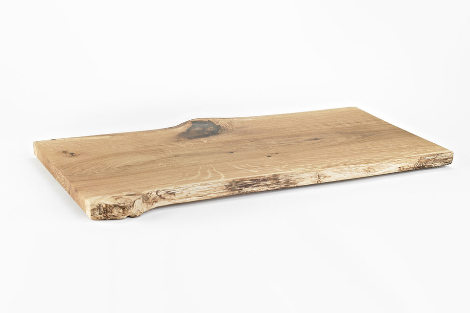 White Oak Live Edge Serving Tray