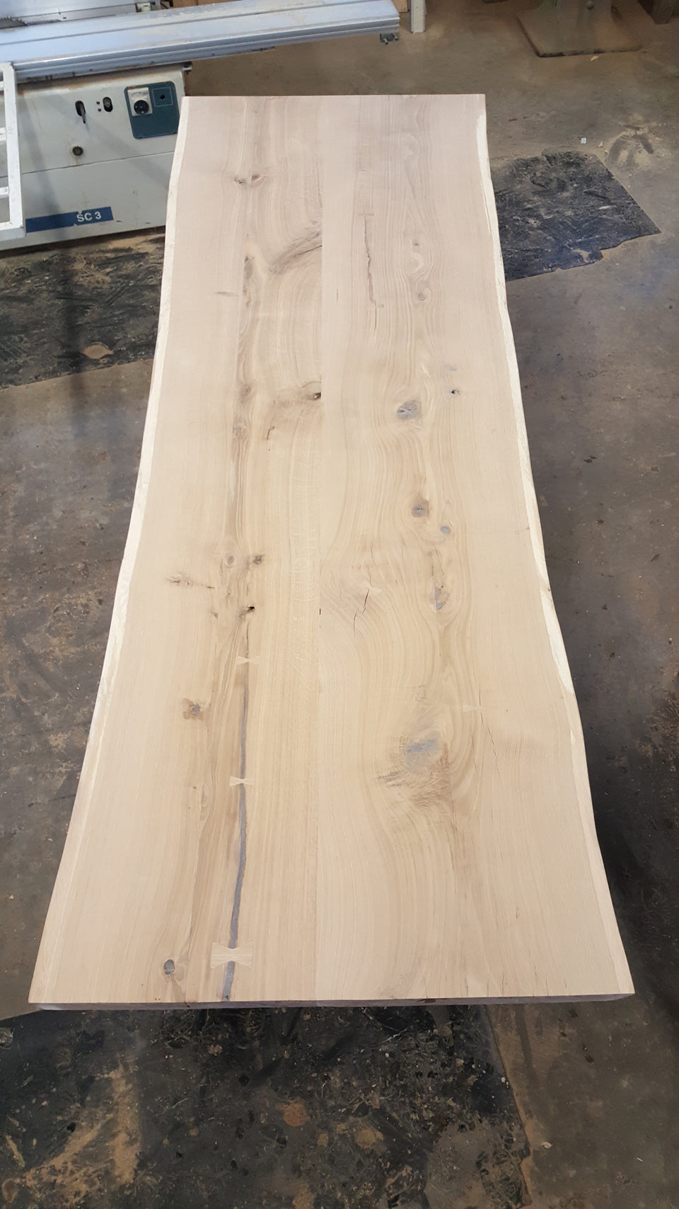 Incomplete Red Oak Slab Table Top: RO3
