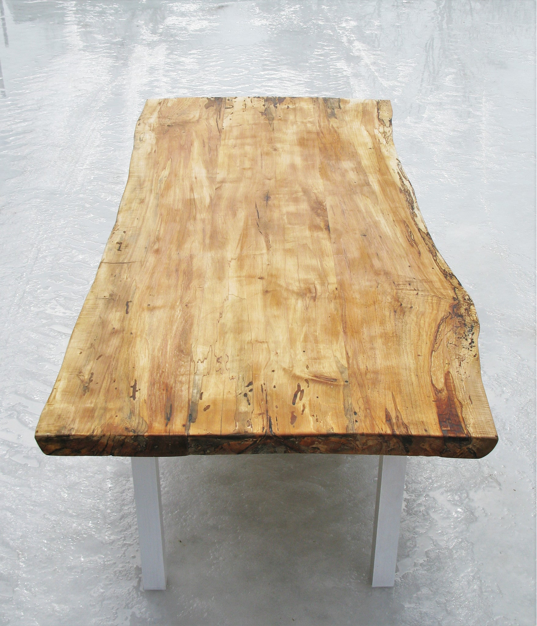 Incomplete Live Edge Spalted Maple Table 2 North On Sixty