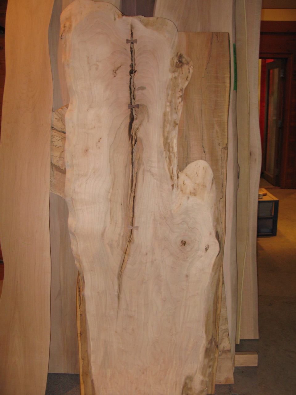 Incomplete Soft Maple, Single Slab, Table Top: SM1
