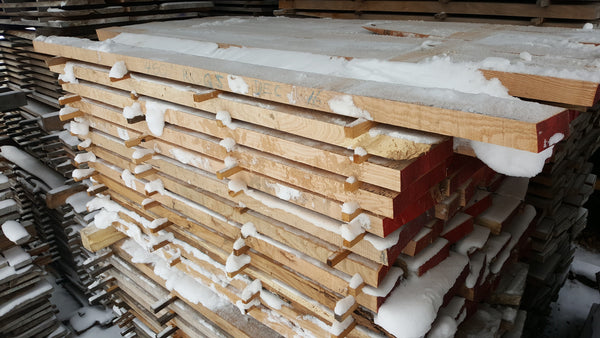"Quartered Red Oak Lumber- 8/4, 3-10"", 5'- 450BF - SKU476"