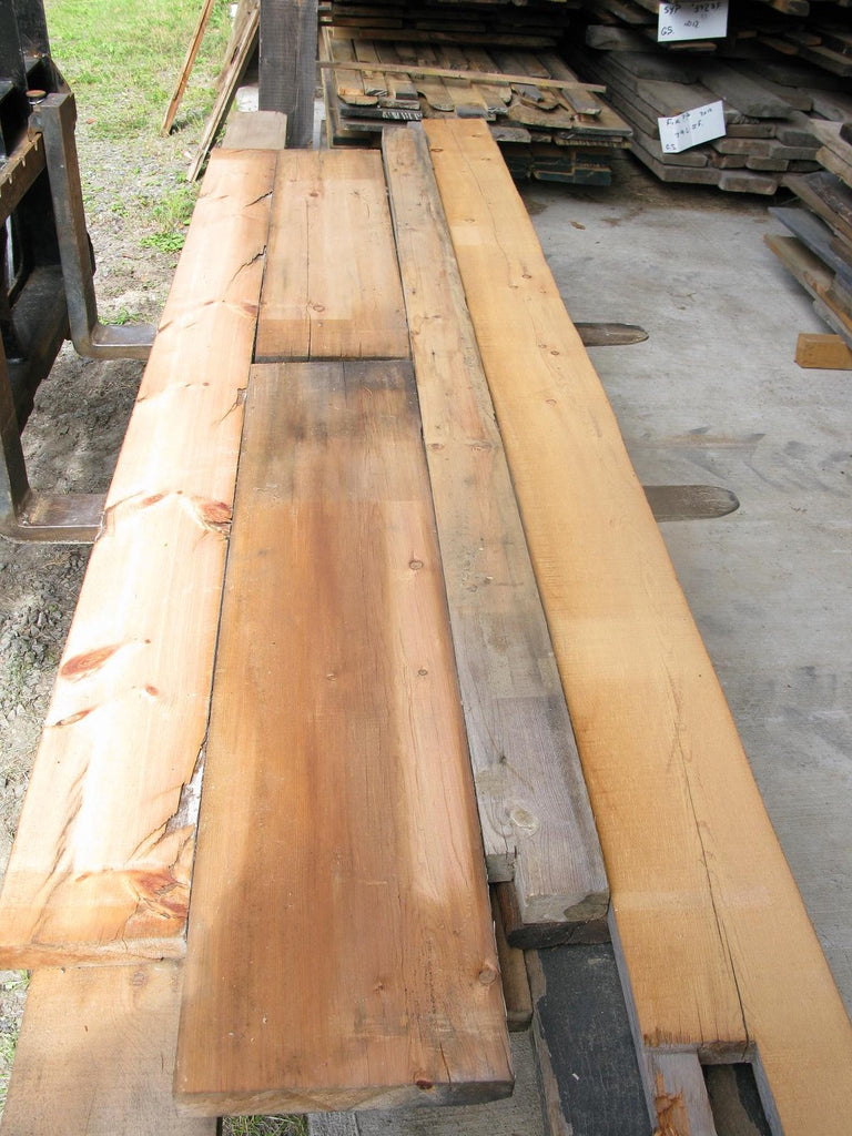 "Antique Pine #1 7/4 X 5""-12"" X 4'-12' - 96 bft - SKU973"