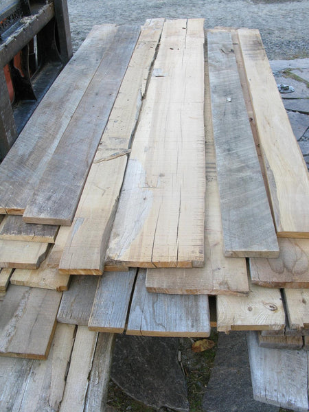 "Antique Elm 4/4 X 4""-10"" X 6'-8' - 151bf - SKU997"