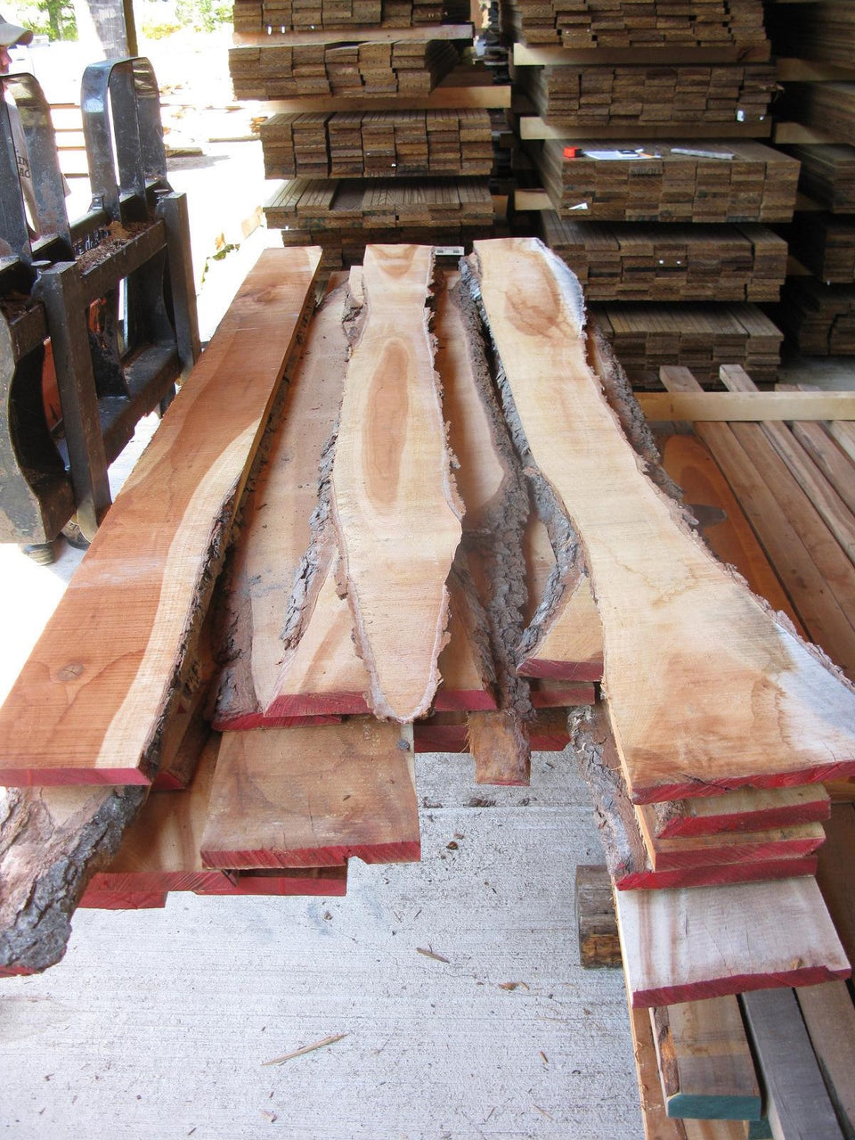 "Black Cherry, Live edge - 4/4 X 4""-9"" X 9'-12' - 180 bft - SKU956"