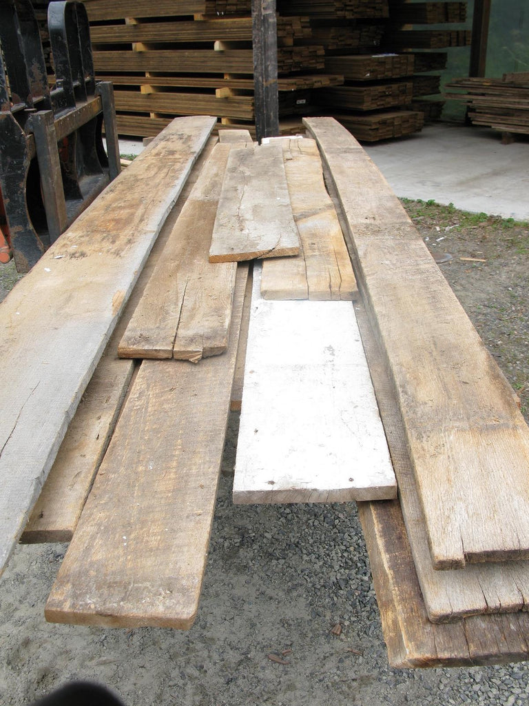 "Antique Oak - 4/4 X 7""-12"" X 5'-14' - 105 bft - SKU958"