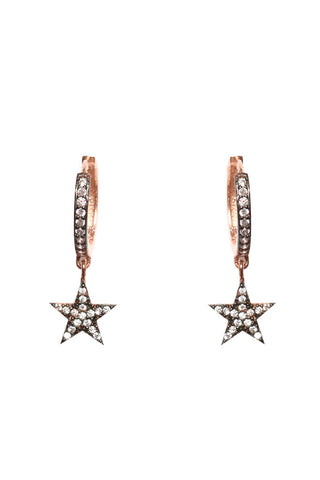 Star Mini Hoop Huggie Earrings