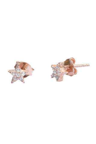 Mini Star Ear Studs Rose Gold
