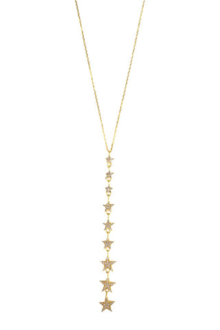 Falling Star Necklace Gold