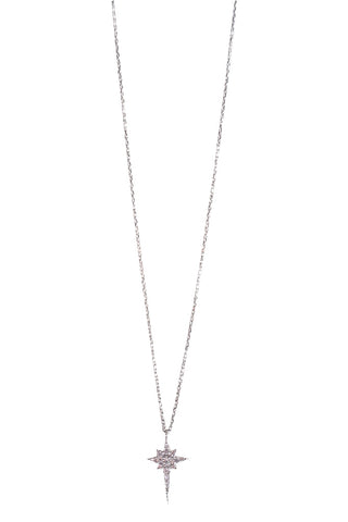 Ice Pick Star Necklace Silver