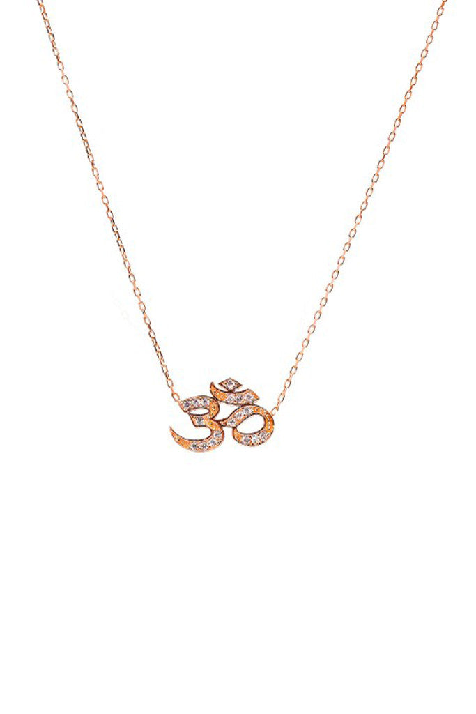 Rose gold om necklace wild hearts aloadofball Image collections