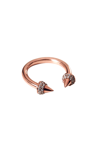 Rose Gold Double Spike Ring