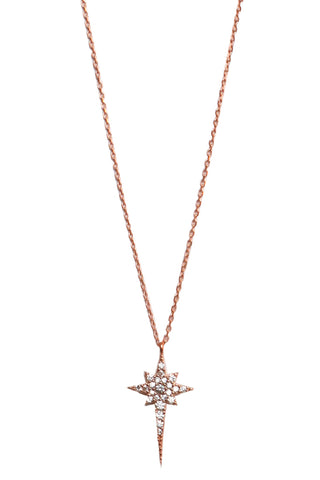 Ice Pick Star Necklace Rose Gold