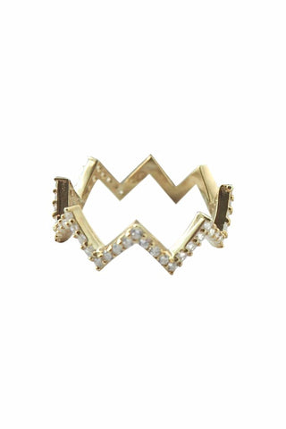 Flash Zig Zag Ring Gold