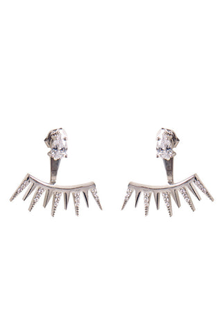 Silver Spiked Ear Jacket