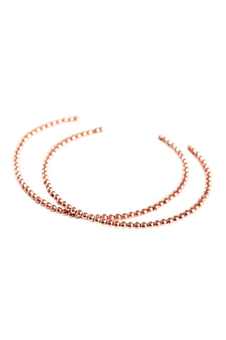 Rose Gold Bead Bangle