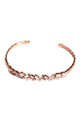 Rose Gold Cluster Bangle