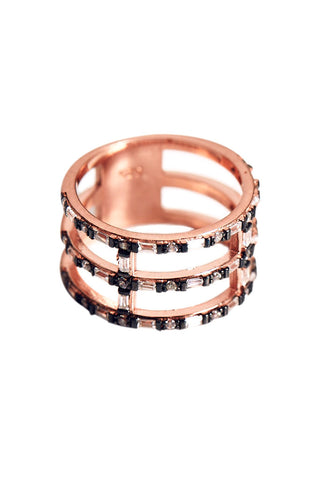 Rose Gold Cage Ring