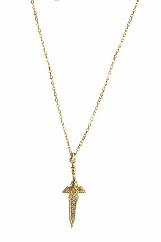 Mini Dagger Necklace Gold